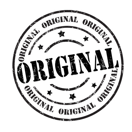 authenticity: Original grunge rubber stamp on white, vector illustration Illustration