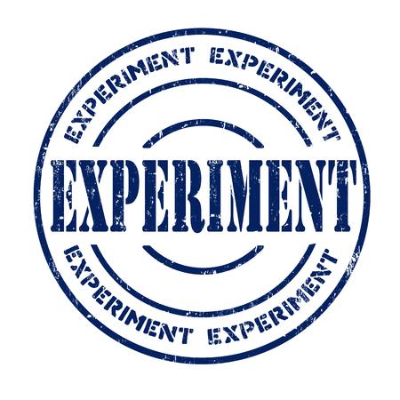 provexemplar: Experiment grunge rubber stamp on white, vector illustration Illustration