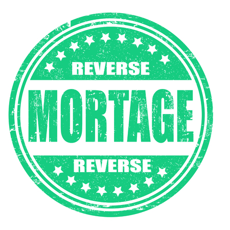 reverse: Reverse mortgage grunge rubber stamp on white, vector illustration