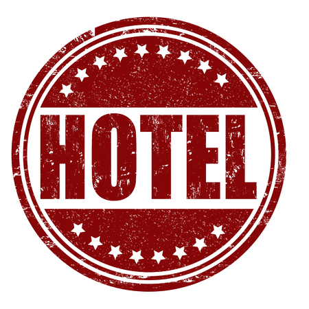 Hotel grunge rubber stamp on white, vector illustration Stock Vector - 25211258