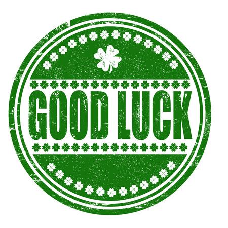 good luck: Good luck grunge rubber stamp on white, vector illustration