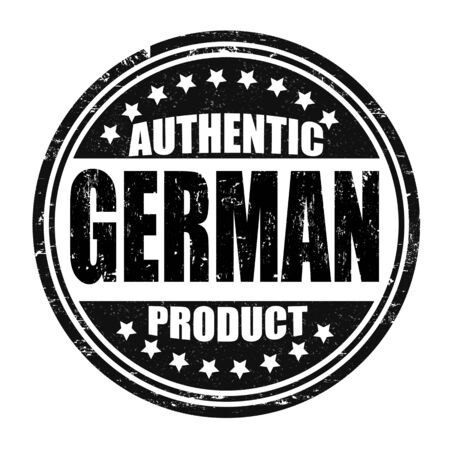 german mark: Authentic german product grunge rubber stamp on white, vector illustration