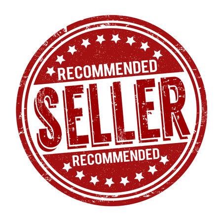 recommended: Recommended seller grunge rubber stamp on white background, vector illustration Illustration