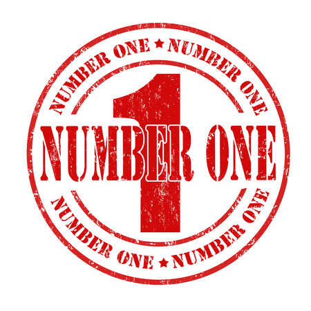 Number one grunge rubber stamp on white, vector illustration Stock Vector - 25296672