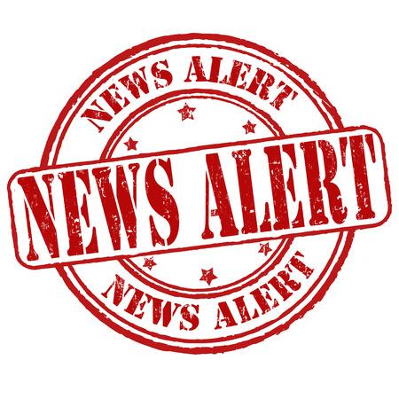 News alert grunge rubber stamp on white, vector illustration Vector