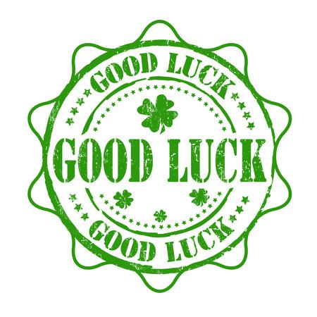 buena suerte: Buena suerte grunge sello de goma en el fondo blanco, ilustración vectorial