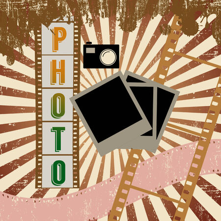 Retro photography grunge poster, vector illustration Vector