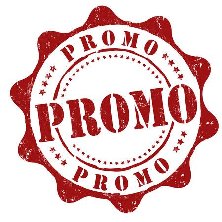 super market: Promo grunge rubber stamp on white, vector illustration Illustration