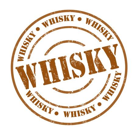 whisky: Whisky grunge rubber stamp on white, vector illustration Illustration