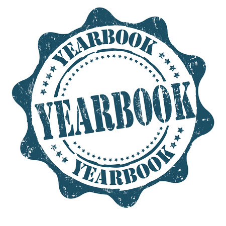 Yearbook grunge rubber stamp on white, vector illustration
