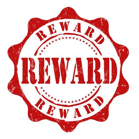 Reward grunge rubber stamp on white, vector illustration Stock Vector - 25528938