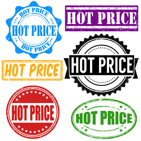 Hot price vintage grunge rubber stamps set on white, vector illustration Stock Vector - 25777724