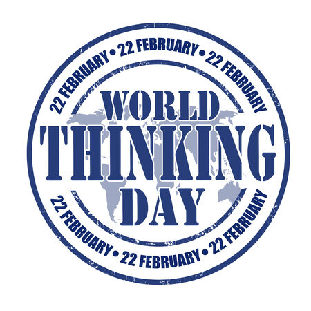 condom: World Thinking Day grunge rubber stamp on white, vector illustration Illustration