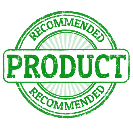 recommended: Recommended product grunge rubber stamp on white, vector illustration