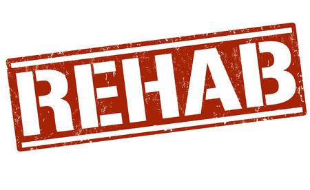 rehab: Rehab grunge rubber stamp on white, vector illustration