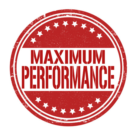 potency: Maximum performance grunge rubber stamp on white, vector illustration Illustration