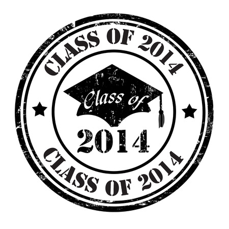 Class of 2014 grunge rubber stamp on white, vector illustration Vector