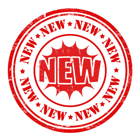 hot announcement: New rubber stamp on white, vector illustration