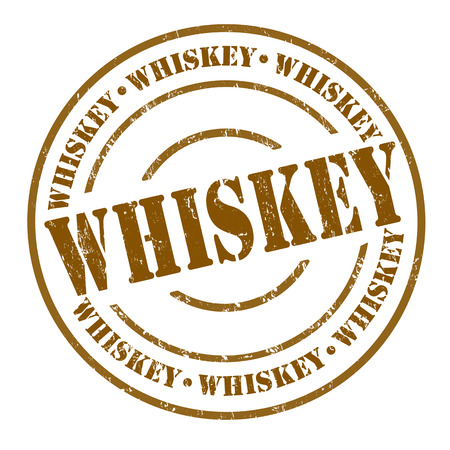scotch: Whiskey grunge rubber stamp on white, vector illustration
