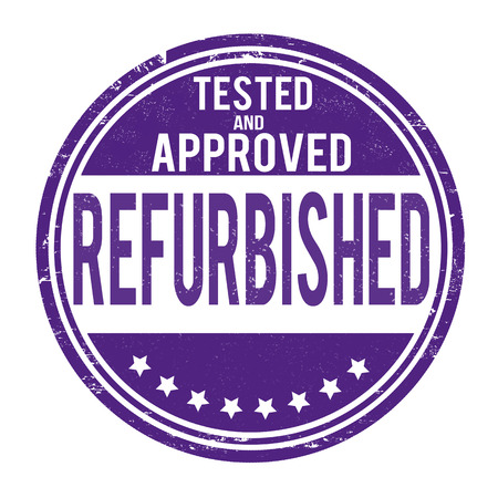 repaired: Refurbished grunge rubber stamp on white, vector illustration