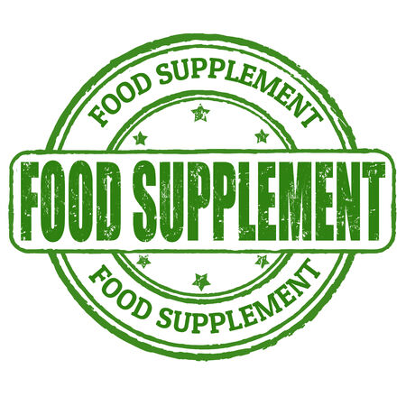 supplements: Food supplement grunge rubber stamp on white, vector illustration Illustration