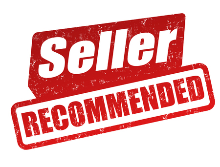 recommended: Recommended Seller grunge rubber stamp on white, vector illustration