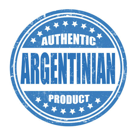 Authentic argentinian product grunge rubber stamp on white, vector illustration Vector
