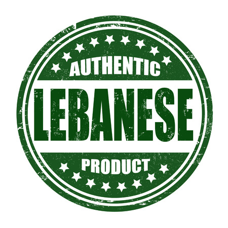 lebanese: Authentic lebanese product grunge rubber stamp on white, vector illustration