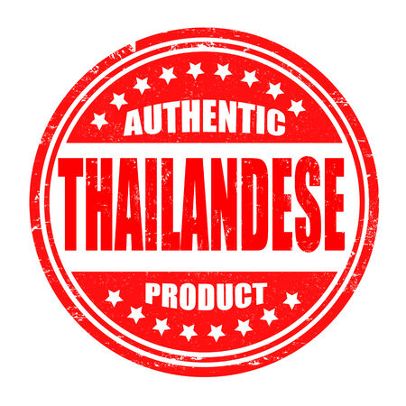 Authentic thailandese product grunge rubber stamp on white, vector illustration Vector