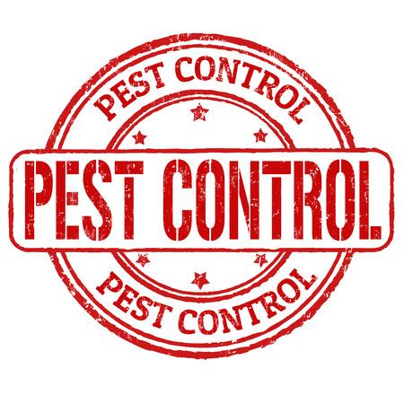白、イラストレーション上の害虫制御グランジ ゴム印