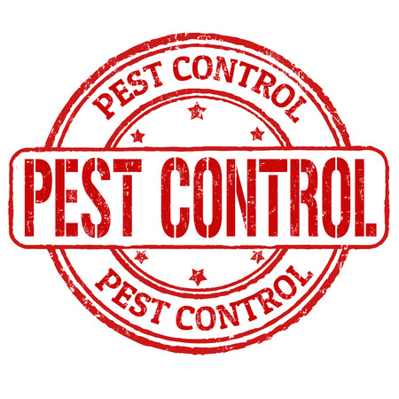 Pest control grunge rubber stamp on white, illustration