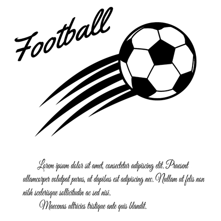 club soccer: Football design poster on white background with space for your text, vector illustration Illustration
