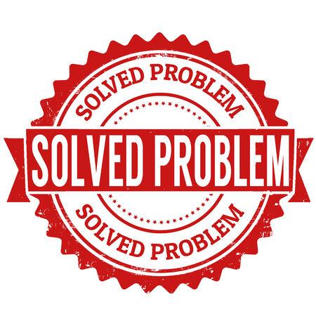 Solved problem grunge rubber stamp on white, vector illustration Vector