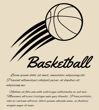 Basketball in retro style  background, vector illustration Vector