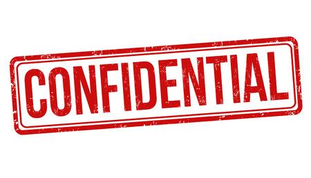 Confidentiel tampon en caoutchouc grunge sur fond blanc, illustration vectorielle