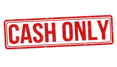 cashflow: Solo efectivo grunge sello de goma en blanco, ilustraci�n vectorial