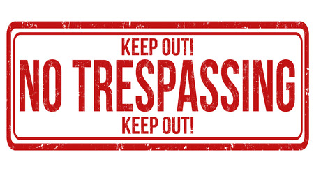 no trespassing: No trespassing grunge rubber stamp on white, vector illustration