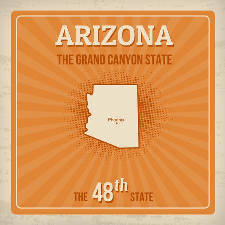 arizona: Arizona travel vintage grunge poster, vector illustration