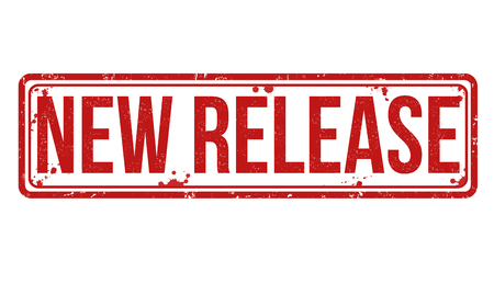 New Release grunge rubber stamp on white Vektoros illusztráció