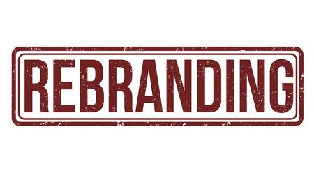 Rebranding grunge rubber stamp on white Vector