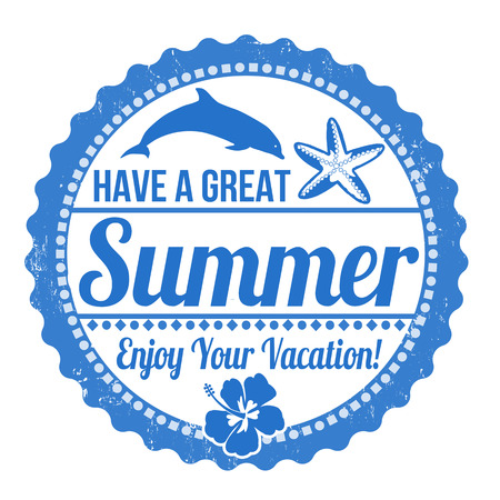 Have a great summer grunge rubber stamp on white Vector