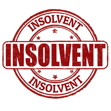 insolvency: Insolvent grunge rubber stamp on white Illustration