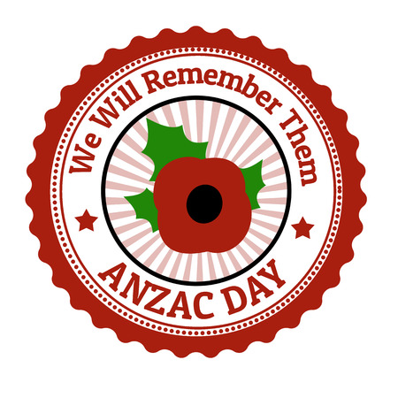 anzac: Anzac Day  grunge rubber stamp on white illustration
