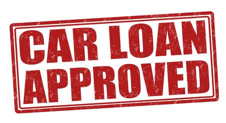 car loan: Car Loan Approved grunge rubber stamp on white, vector illustration Illustration