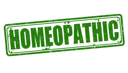 homeopathic: Homeopathic grunge rubber stamp on white