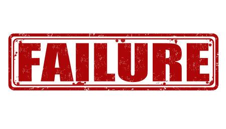 Failure grunge rubber stamp on white, vector illustration Vector