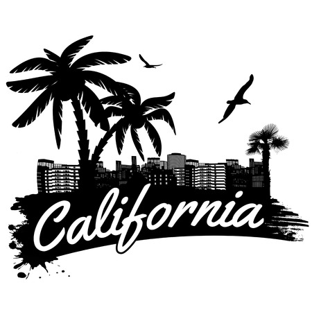 California in vitage style poster, vector illustration Vector