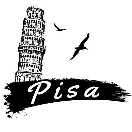 Pisa in vitage style poster, vector illustration Vector