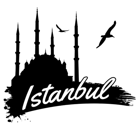 Istanbul in vitage style poster, vector illustration Vector