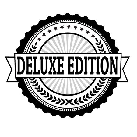 Deluxe edition grunge rubber stamp or label on white, vector illustration Illustration